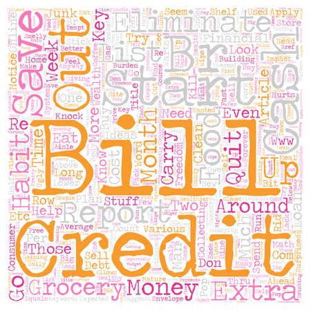 Kill Bills text background wordcloud concept