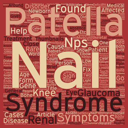 patella: Nail Patella Syndrome text background wordcloud concept