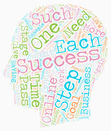 Multiple Steps To Success text background wordcloud concept
