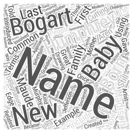 Nomi del bambino appena nato Nube Concetto Word