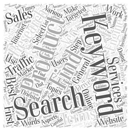 Keyword Research That Works Word Cloud Concept