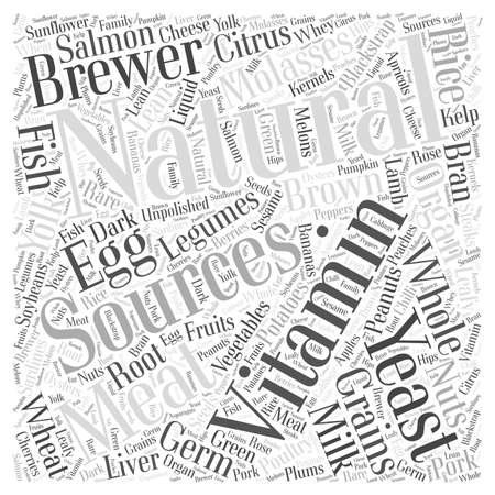 brown rice: Natural Vitamin Word Cloud Concept