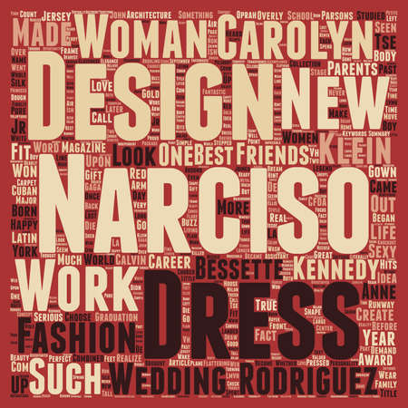 Narciso Rodriguez text background wordcloud concept