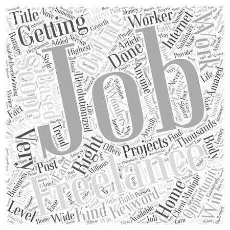 anyone: Multiple Scopes for Freelance Jobs Word Cloud Concept