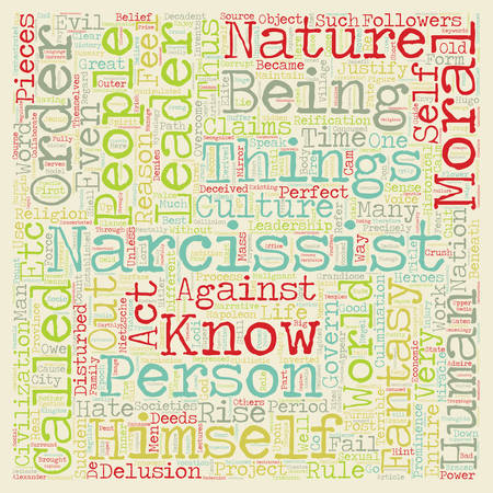 Narcissistic Leaders text background wordcloud concept