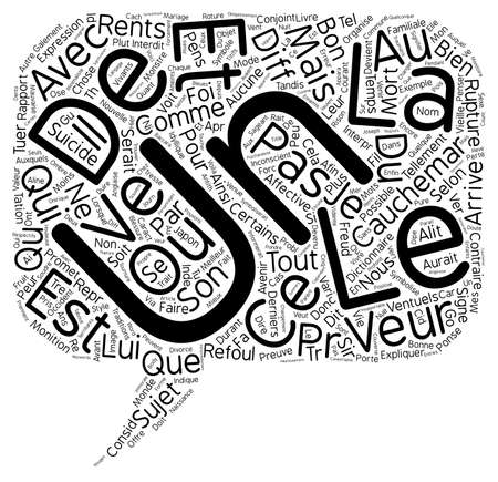 摘要: Le reve text background wordcloud concept