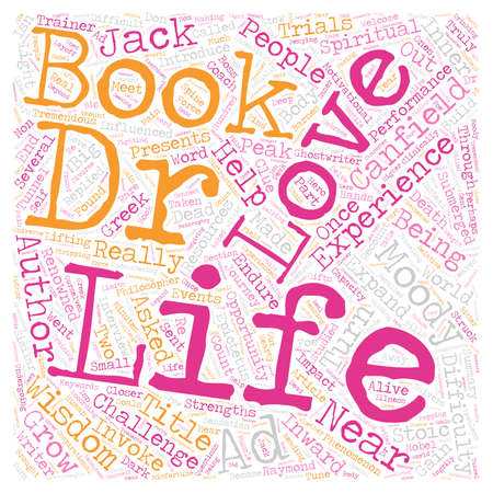 Near Life Experience text background wordcloud concept Ilustração