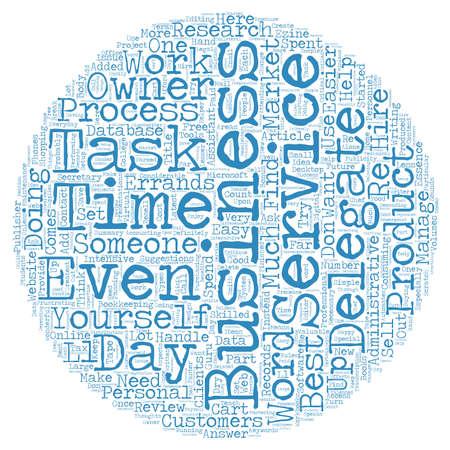 Tâches nécessaires vous pouvez déléguer le concept texte fond wordcloud