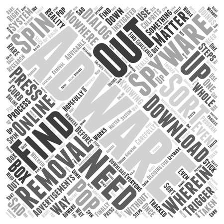 adware: removal adware spyware Word Cloud Concept Illustration
