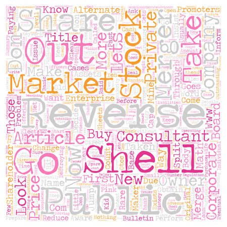 d offer: Reverse Merger Have They Taken the Reverse out of Reverse Merger text background wordcloud concept