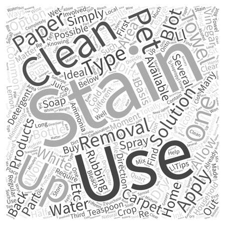 removing: Removing Pet Stains Word Cloud Concept