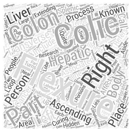 colic: right colic flexure Word Cloud Concept