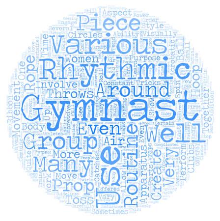 Rhythmic Gymnastics for Women text background wordcloud concept