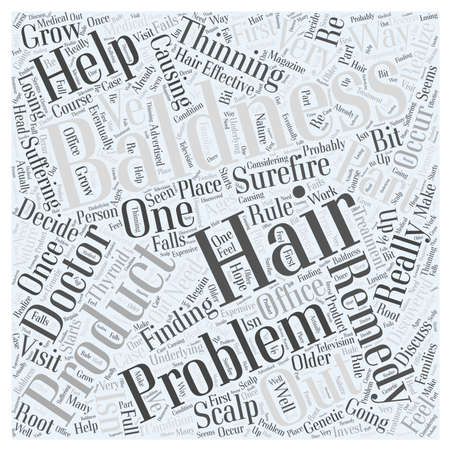 discovered: remedy for baldness Word Cloud Concept