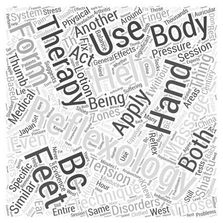 Reflexology Is Another Form of Massage Therapy Word Cloud Concept