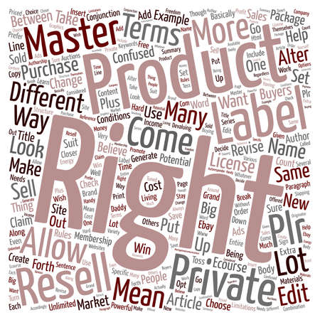 Resell Rights Master Rights Private Label Rights text background wordcloud concept