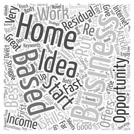 Residual Income Home Based Business Opportunity Word Cloud Concept Çizim