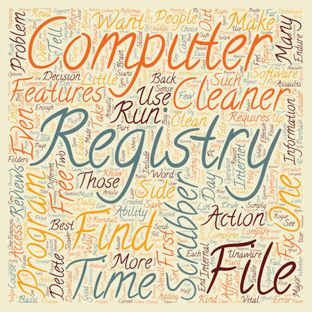 Registry Cleaners and You text background wordcloud concept