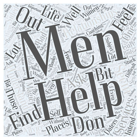 relationships with men Word Cloud Concept Illustration