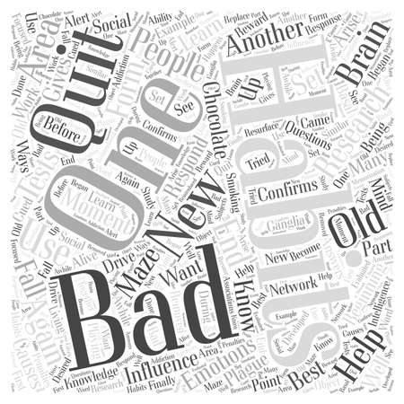 Research about Bad Habits Word Cloud Concept