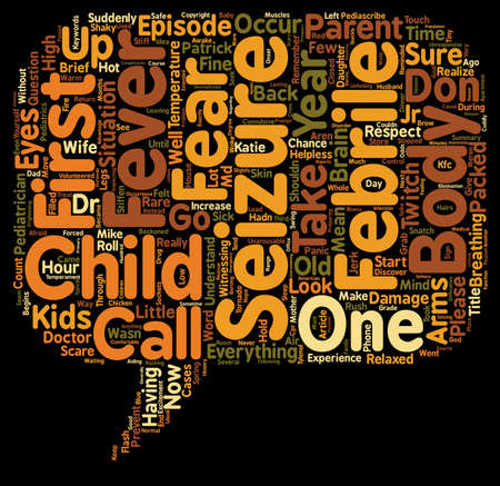 Respect Your Child s Fever But Please Don t Fear It text background wordcloud concept Ilustracja