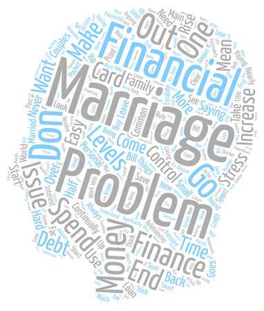 Rescue Remedy For Financial Problems In A Marriage text background wordcloud concept