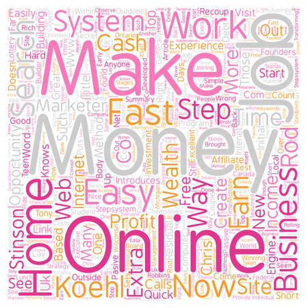 Rod Stinson Introduces The One Step System text background wordcloud concept