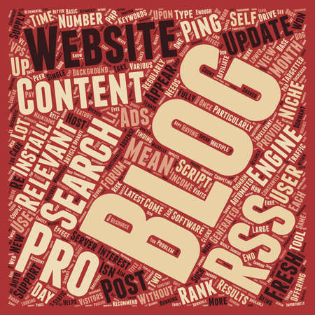 Rss To Blog Pro A 6 Month Review text background wordcloud concept Illustration