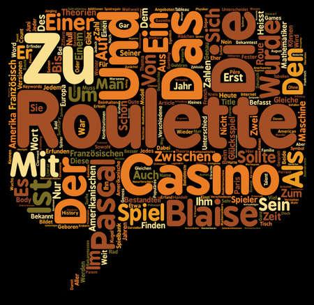 Roulette Der Unterschied zwischen Amerikanischen und Franzosischen Roulette text background wordcloud concept