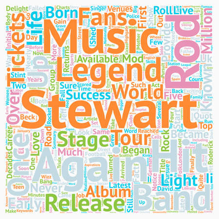 Rod Stewart Tickets quot the Mod quot Returns To The Stage text background wordcloud concept
