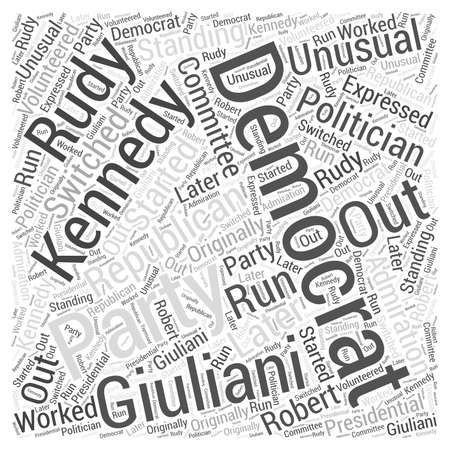 rudy: Rudy Giuliani Republican Word Cloud Concept