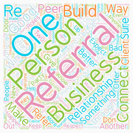 Rules Of Business Referral Etiquette text background wordcloud concept
