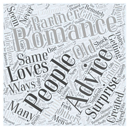romance advice Word Cloud Concept