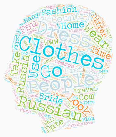Russian dress code text background wordcloud concept