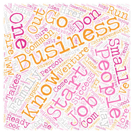 Signs of an Entrepreneur text background wordcloud concept