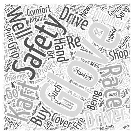 endangering: Scrutinizing Kart Racing Gloves Word Cloud Concept Illustration