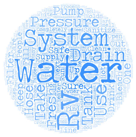 Rv Fresh Water System text background wordcloud concept