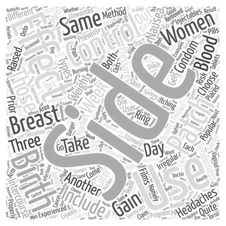 side effect: Side Effects of Birth Control Word Cloud Concept