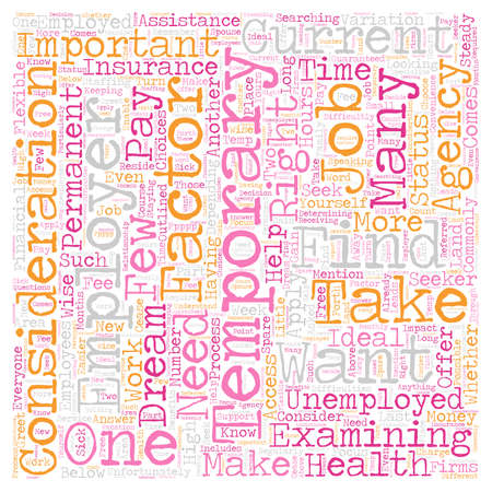 Should You Apply for Temporary Jobs 1 text background wordcloud concept Illustration