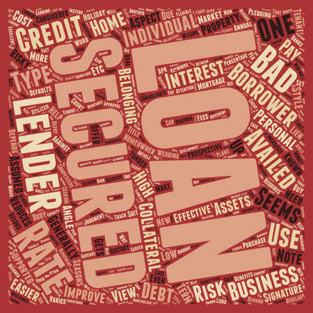 Secured Loan text background wordcloud concept