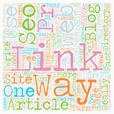 SEO Web Links Directory Alternatives text background wordcloud concept Ilustrace