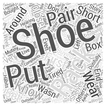 bought: shoe rack Word Cloud Concept Illustration