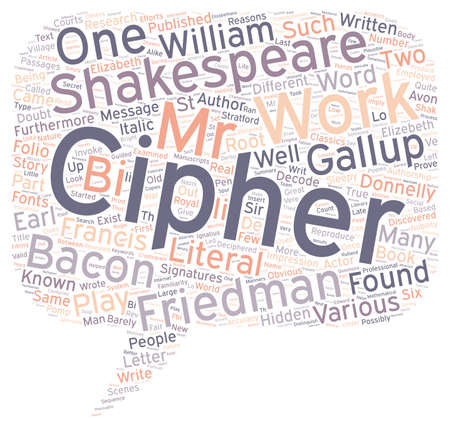 familiarity: Shakespeare Cipher Stories Part 1 text background wordcloud concept Illustration