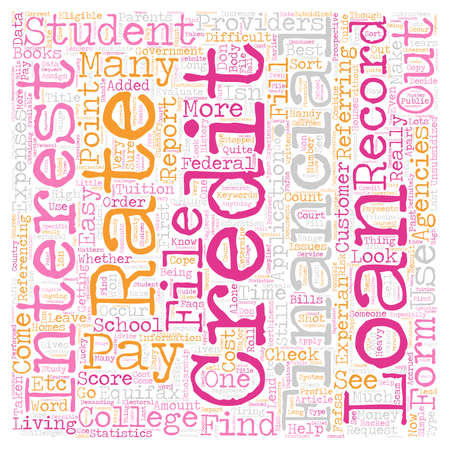 Simple Guide To Best Student Loans text background wordcloud concept