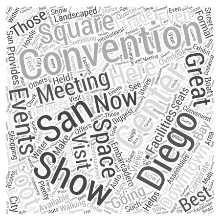 convention: San Diego Convention Center Word Cloud Concept