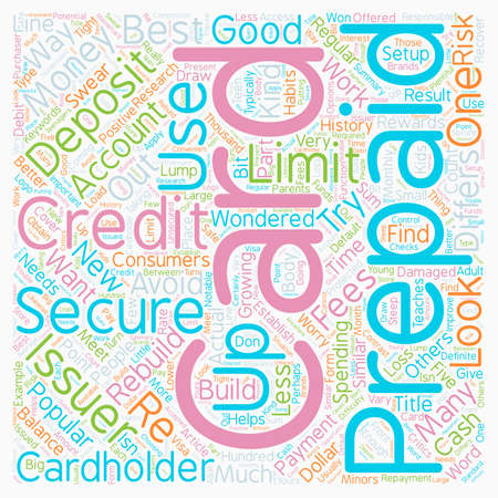 Secured And Prepaid Credit Cards text background wordcloud concept