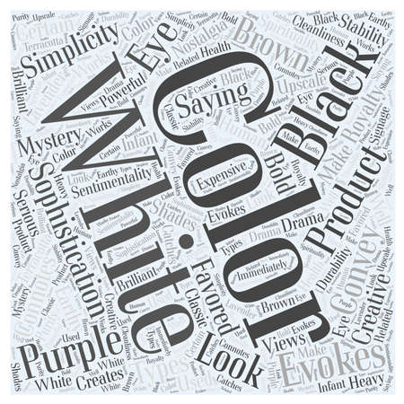 sophistication: Saying it With Color Word Cloud Concept Illustration