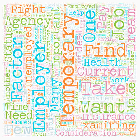 Should You Apply for Temporary Jobs text background wordcloud concept