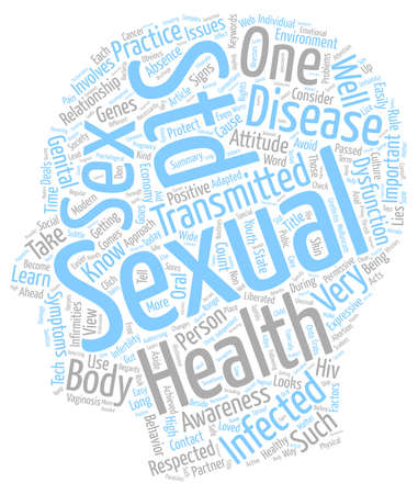 Sexual Health Awareness and You text background wordcloud concept