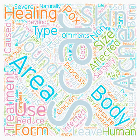 nonsurgical: Scary Scars Know How to Treat It the Non Surgical Way text background wordcloud concept Illustration